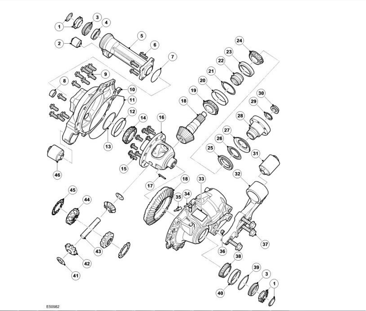 Land Rover Freelander 2 Rear Diff Rebuild Car Lr3 Wiring Diagram Reconditioned Viscous Coupling Unit Vcu Source Front Differential Parts Illustration Of