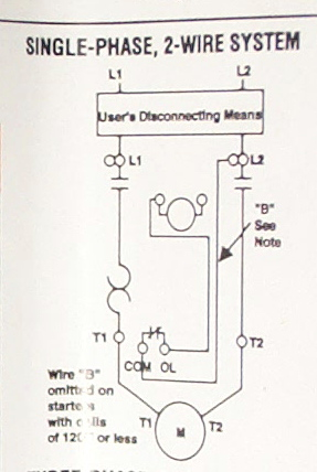 magnetic_starter_4 wiring magnetic (definite purpose) starters for compressor? the 1 phase motor starter wiring diagram at bayanpartner.co