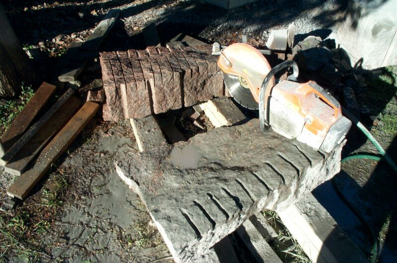 how to cut large stone on small wet saw